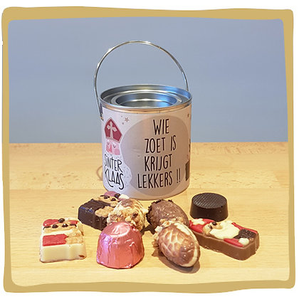 Wie zoet is krijgt lekkers - Blikje - Chocolade