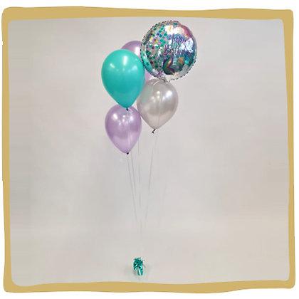 Ballonboeket mermaid
