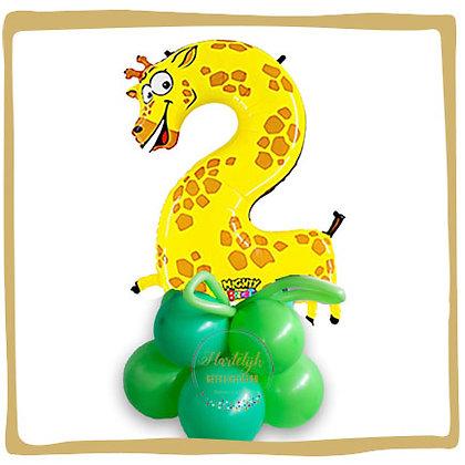Nummer 2 Ballon - Giraffe