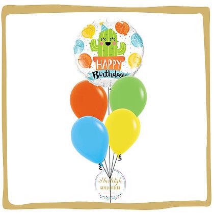 Happy Birthday Cactus - Helium Ballonboeket
