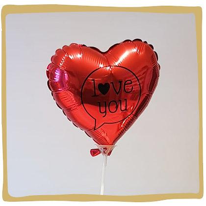 I love you Speechbubble -Mini Folie ballon - 20cm