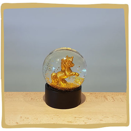 Sneeuwbal Unicorn Goud