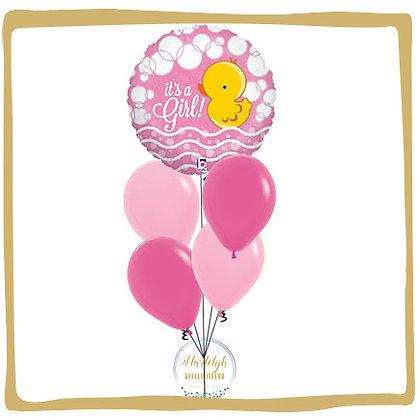 It's a Girl Ducky - Helium Ballonboeket