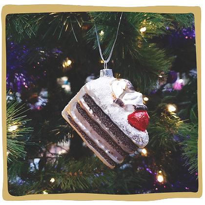 Kerstbal - Glitter Chocolade Taartje