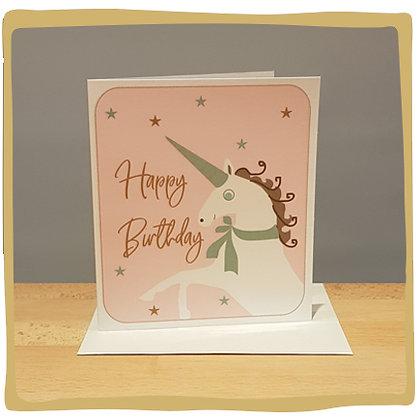 Happy Birthday Unicorn - Wenskaart