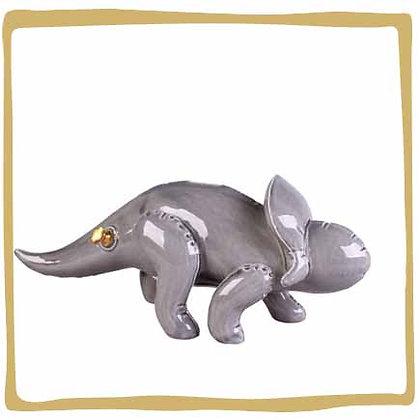 Spaarpot dinosaurus grijs