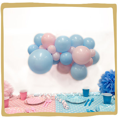 Maak je eigen ballonslinger - Gender reveal
