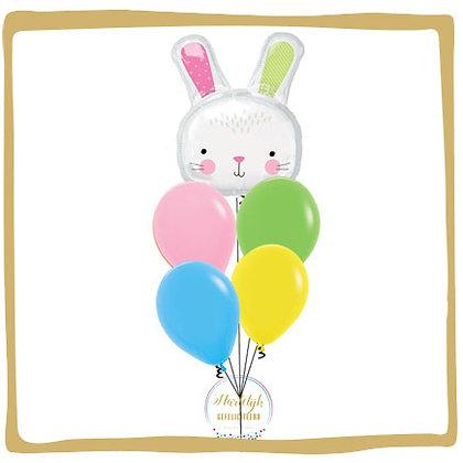 Paashaas Wit - Helium Ballonboeket