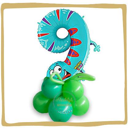 Nummer 9 Ballon - Draak