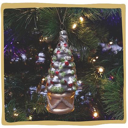 Kerstbal - Glitter Kerstboom