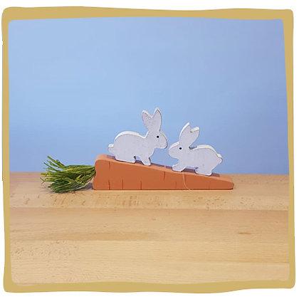 Houten paashaasjes - 11cm x 24cm