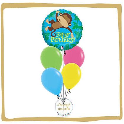 Monkey Birthday - Helium Ballonboeket