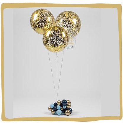 Confetti ballonnen - 60cm - 3 stuks