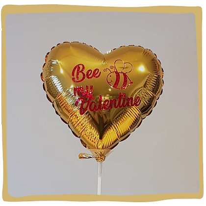Bee My Valentine - Mini Folie ballon - 20cm