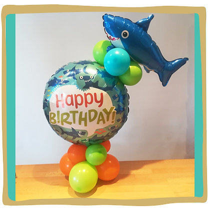 Happy Birthday Haai - Tafeldecoratie