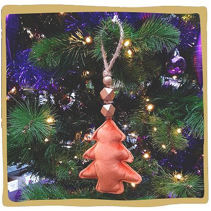 Kerstbal - Zachte Kerstboom - Oranje