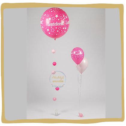 Lentefeest Set : Ballon 90cm + 1 boeket