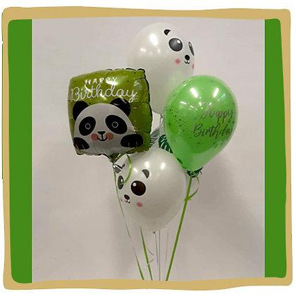 Panda Birthday Helium Ballon Boeket