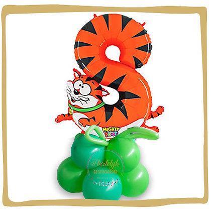 Nummer 8 Ballon - Tijger