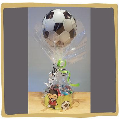 Voetbaltaart met ballon - 500gr