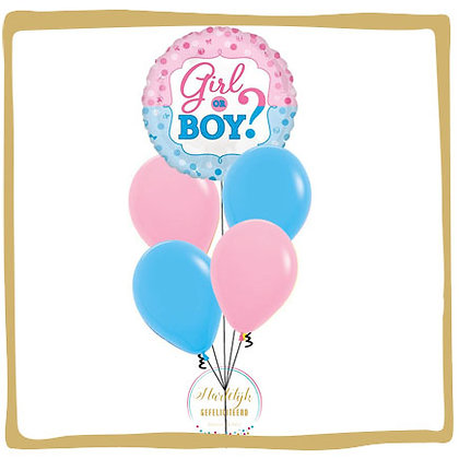 Gender Reveal - Helium Ballonboeket