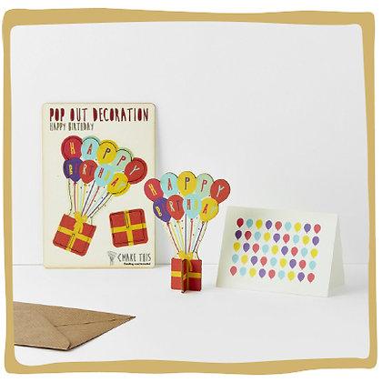 Pop-out wenskaart - Happy Birthday