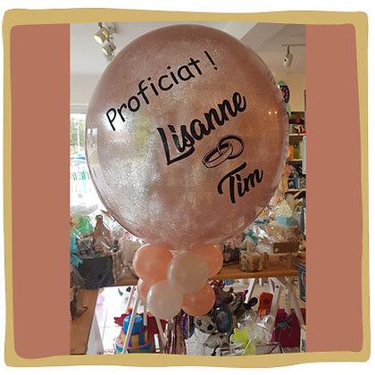 Gepersonaliseerde Glitterballon - Huwelijk