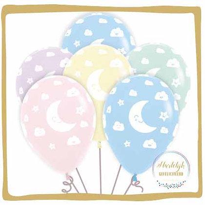 Maan & Sterren Pastel - Ballon Boeket