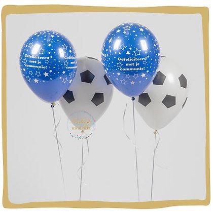 2 Voetbal ballonboeketten