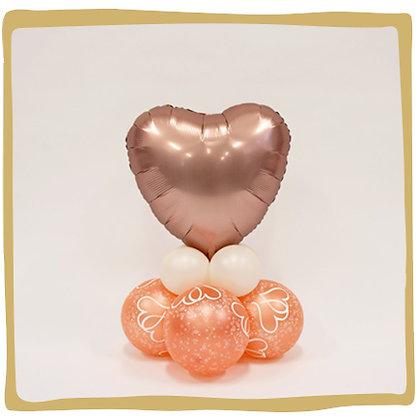 Hart Rosegold -  Ballongeschenk*