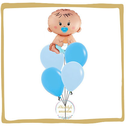 Baby Jongen - Helium Ballonboeket
