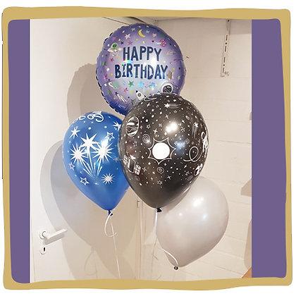 Ballonboeket - Space Verjaardag