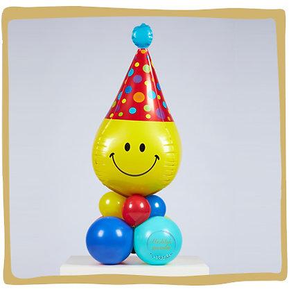 Verjaardag 3D Smiley Feesthoed - Tafeldecoratie