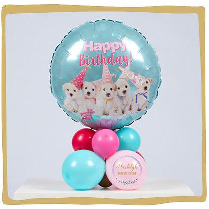 Verjaardag Puppy's - Ballongeschenk