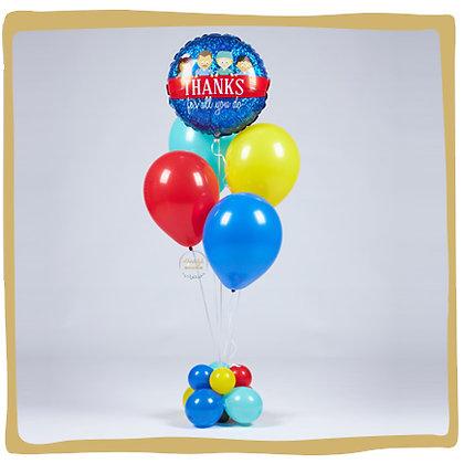 Helium Ballonboeket - Bedankt voor alles Zorgsector