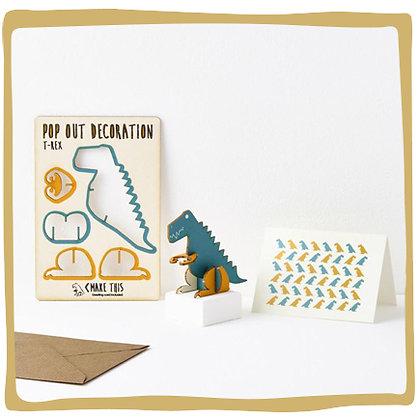Pop-out kaart -  Dinosaurus