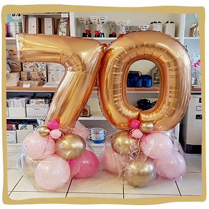 Nummer 70 - Ballondecoratie - 1m20