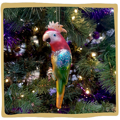 Kerstbal - Kleurrijke Papegaai