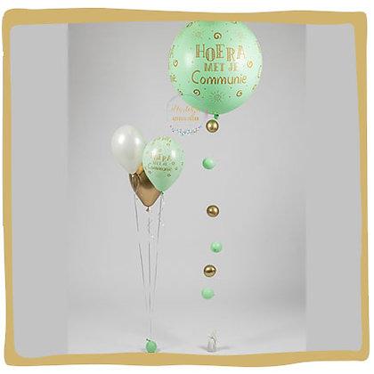 Communie Set: Ballon 90cm + 1 boeket