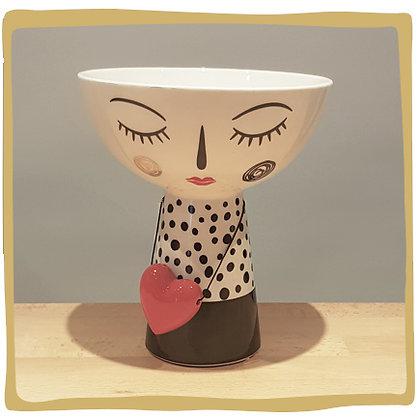 Loving Face - Schaal/bloempot - 21 cm