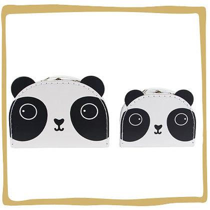 Pandakoffertjes - Set van 2