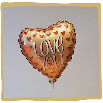 I love you Gold - Mini Folieballon