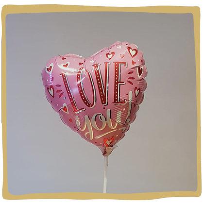 I love you - Mini Folieballon -20cm