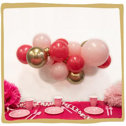 Maak je eigen ballonslinger - Roze/Goud