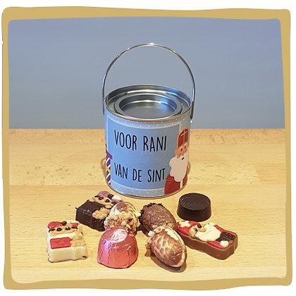 Gepersonaliseerd blikje Sint - Chocolade