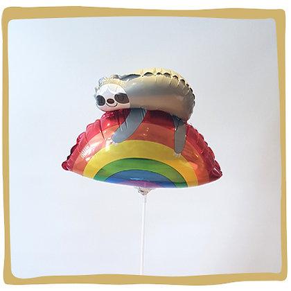 Luiaard op regenboog - 30cm