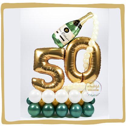 Jubileum 50 - Ballondecoratie - 1m70