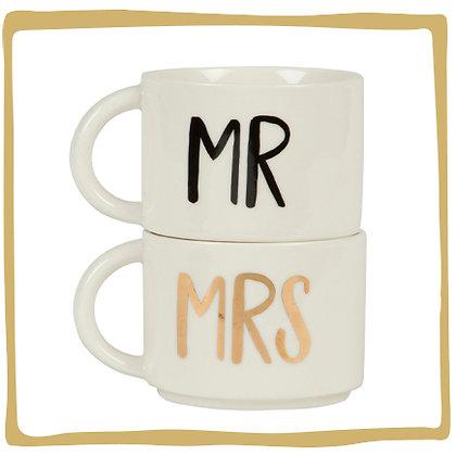 Mr & Mrs  - Mok - Set van 2