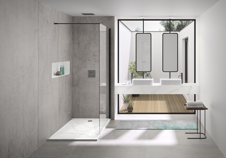 Silestone-Calacatta Bathroom