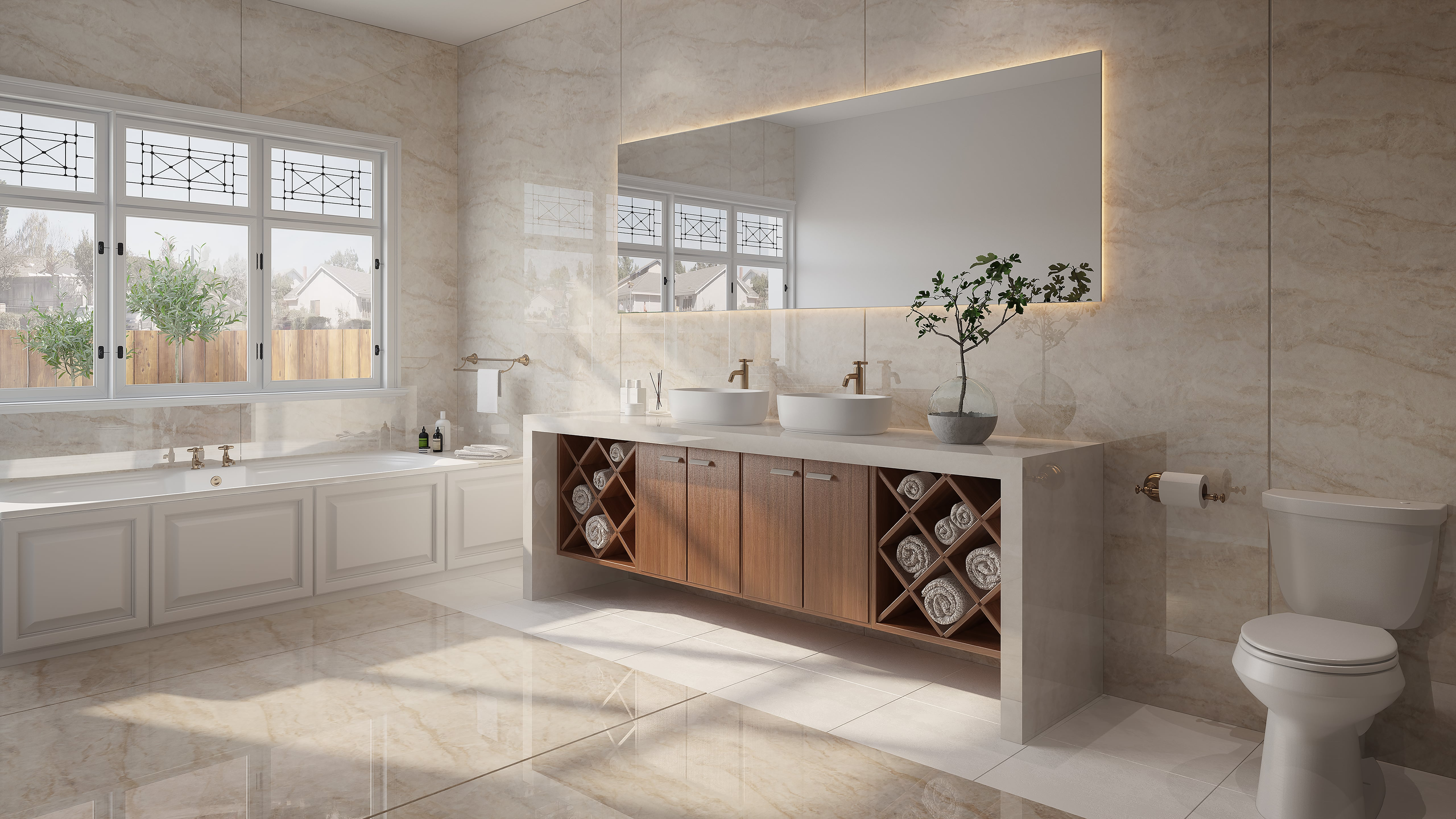 Dekton bathroom - Xgloss Stonika - Arga